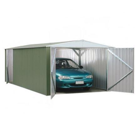 9' 10 x 19' 8 Premium Pale Eucalyptus Easy Build Metal Shed