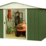 9' 9 x 7' 7 Yardmaster Metal Apex Garden Shed