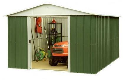 9' 9 x 7' 7 Yardmaster Metal Apex Garden Shed
