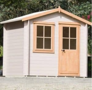 9' x 9' Shire Avesbury Log Cabin