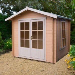 9' x 9' Shire Barnsdale Log Cabin