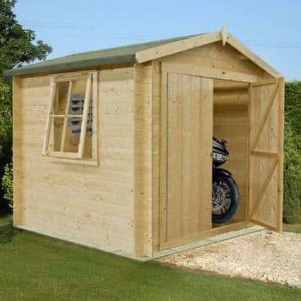 9' x 9' Shire Bradley Log Cabin