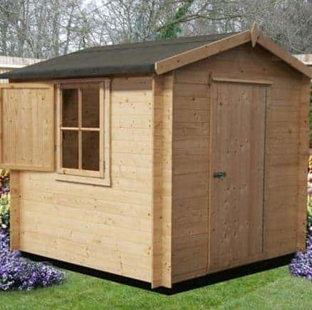 9' x 9' Shire Camelot Log Cabin
