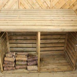 Double FSC Wooden Log Store