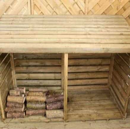 Double FSC Wooden Log Store