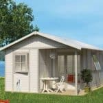 Grosfillex Deco 20B4 Plastic Shed in White Pale Green Colour
