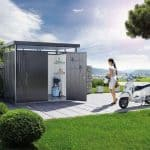 H2 BioHort Highline Metal Shed With Double Door
