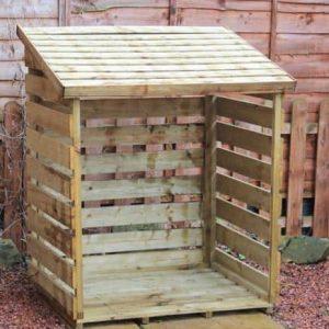 Single FSC Wooden Log Store