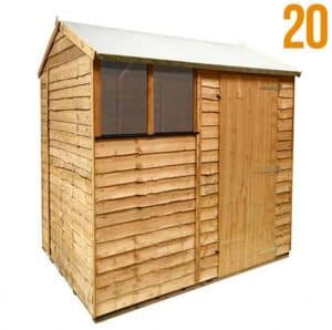 BillyOh 20 'Extra Tall' Rustic Economy Overlap Reverse Apex Shed