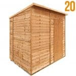 BillyOh 20 Windowless Rustic Economy Overlap Pent