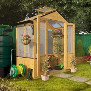 BillyOh 4000 Lincoln Wooden Polycarbonate Greenhouse with Opening Roof Vent