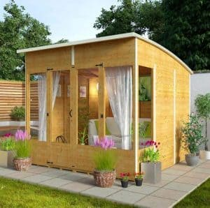 Billyoh 5000 sunroom summerhouse range what shed for Pre built garden rooms