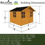 BillyOh 6 x 5 Mad Dash Lollipop Playhouse Overall Dimensions