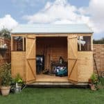 BillyOh 8x10 5000 Workman's Hut Double Doors Open