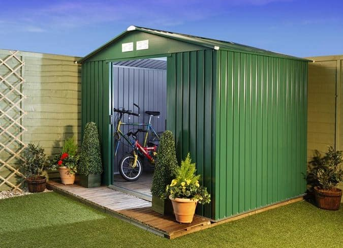 Billyoh beeston 8 39 fronted premium metal sheds what shed for Table 8 beeston