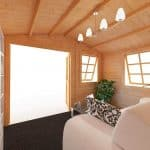BillyOh Clubman Log Cabin Inside Outside View