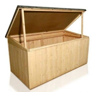 BillyOh Keep it Tidy Deck Box Tongue and Groove Storage Chest with Felted Roof