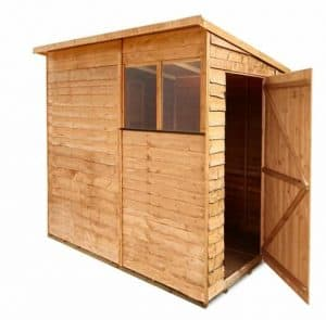 BillyOh Rustic Overlap Pent Shed Single Open Door