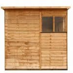 BillyOh Rustic Overlap Pent Shed Single View
