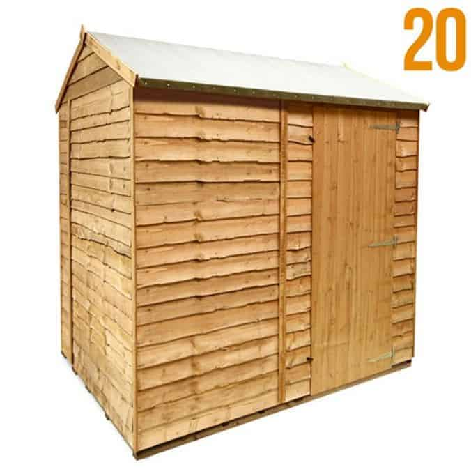 BillyOh Super Saver Windowless Rustic Economy Overlap Reverse Apex Shed