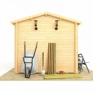 BillyOh Traditional Log Cabin Workshop Back View