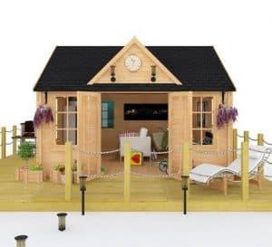 BillyOh Village Hall Log Cabin FrontView