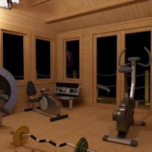 BillyOh Village Hall Log Cabin Inside View
