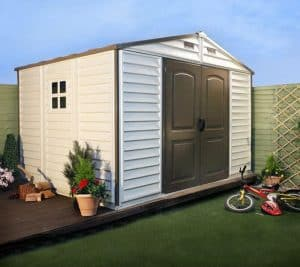 BillyOh WoodSide 8 x 10 Plastic Shed Inc Foundation Kit