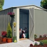 Canberra Apex Hinged Door Metal Shed Range