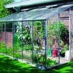 Eden Green Aluminium Lean to 8 x 6 Metal Greenhouse