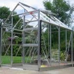 Elite High Eave 6'3 Silver Framed Metal Greenhouse