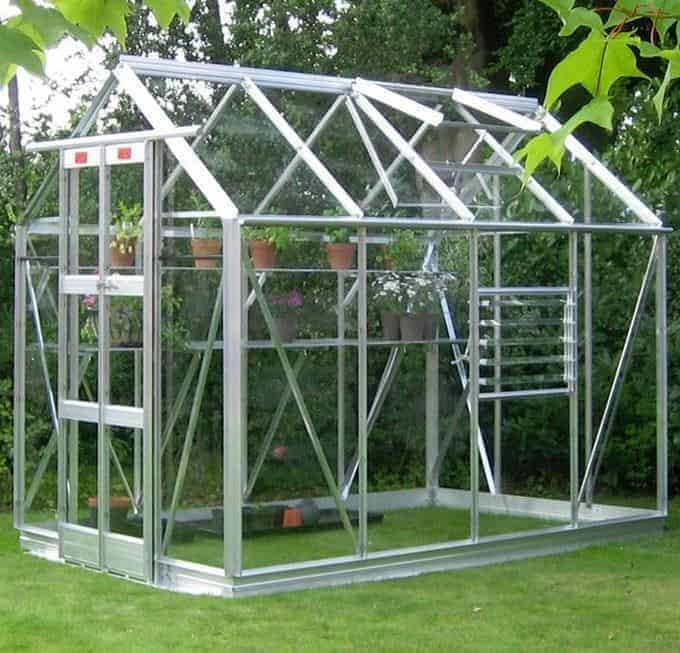 Elite Streamline 5'3 Silver Framed Metal Greenhouse