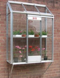 Elite Window Garden Silver Framed Greenhouse