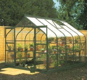 Halls Green Aluminium Supreme 10 x 8 metal Greenhouse