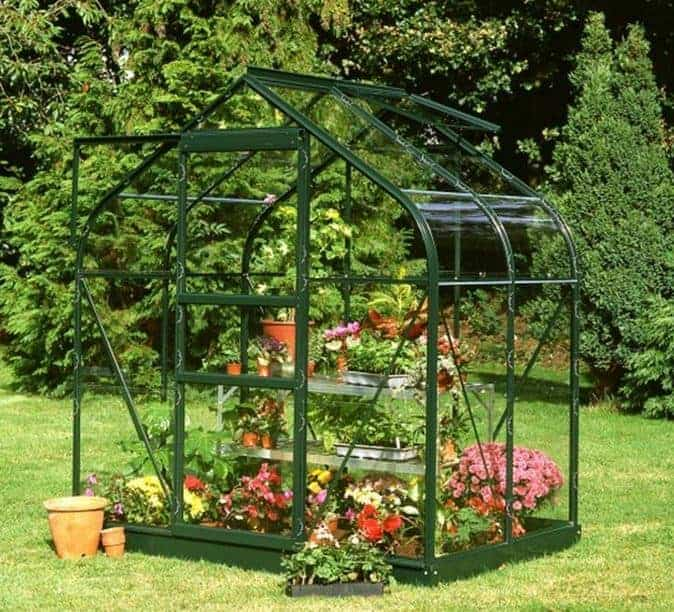 Halls Green Aluminium Supreme 4 x 6 Metal Greenhouse
