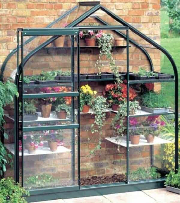 Halls Green Aluminium Supreme 6 x 2 Metal Greenhouse