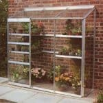 Halls Silver Aluminium Lean to Wall Garden 6 x 2 Metal Greenhouse