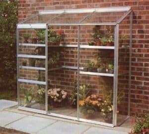 Halls Silver Aluminium Lean to Wall Garden 6 x 2 Metal Greenhouse