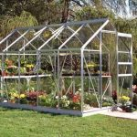 Halls Silver Aluminium Popular 10 x 6 Metal Greenhouse