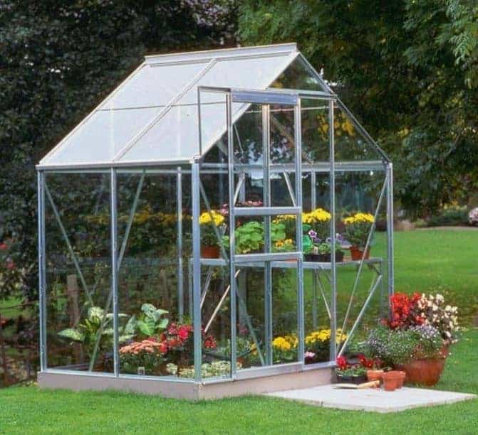 Halls Silver Aluminium Popular 4 x 6 Metal Greenhouse