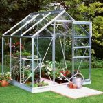 Halls Silver Aluminium Popular 6 x 6 Metal Greenhouse
