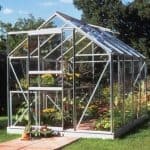 Halls Silver Aluminium Popular 8 x 6 Metal Greenhouse