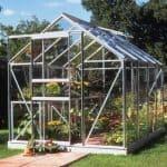 Halls Silver Aluminium Popular 8 x 6 Metal Greenhouse