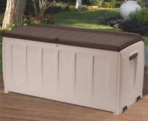 Keter Plastic Garden Storage Box with Seat - 340 Litre Capacity