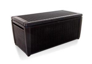 Keter Sumatra Rattan Style Jumbo Garden Storage Deck Box XL - 511 Litre Capacity