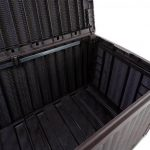 Keter Sumatra Rattan Style Jumbo Garden Storage Deck Box XL - 511 Litre Capacity Internal