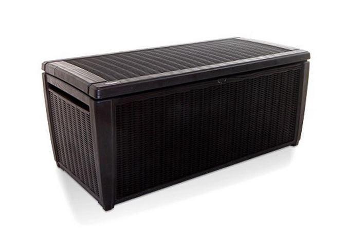 Keter Sumatra Rattan Style Jumbo Garden Storage Deck Box