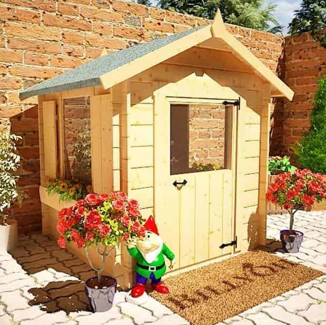 Mad Dash Child's Log Cabin Wooden Playhouse