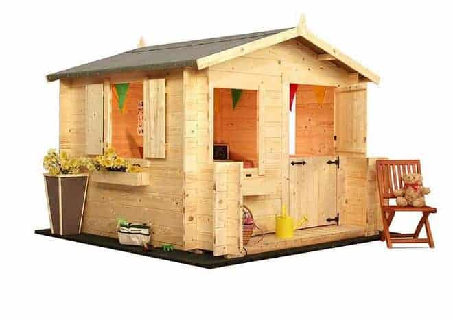 Mad Dash Junior Log Cabin Wooden Playhouses
