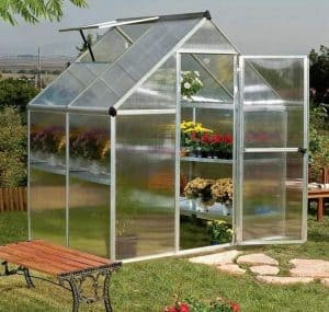 Palram Silver Mythos Polycarbonated Glazed Greenhouses